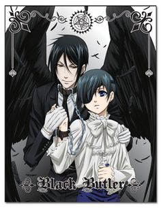 Black Butler: Ciel and Sebastian Black Wings Sublimation Throw Blanket