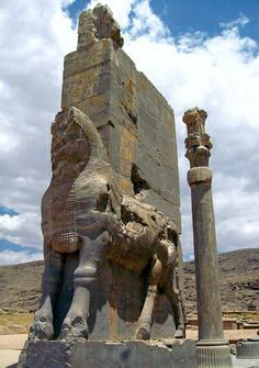 """""""Imperial public works in the East mimic the towering Lamassu ruins, but on a much more modest scale"""" persepolis, iran 