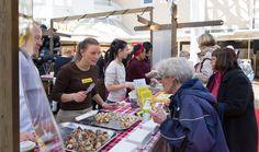 Cafe Brahe maistatteli suussa sulavia herkkupaloja Hansan Ravintolafest -tapahtumassa.