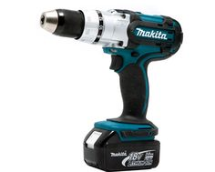 Cordless Drill Either Makita or Dewalt.  At least 18V