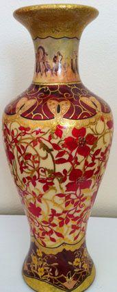 Ceramic Vase - Opulence - Decoupage