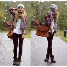ways to wear a flannel in the fall