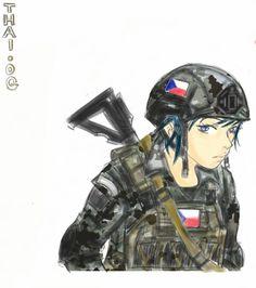 THAI .OG Anime Stuff, Ww2, World War, Military, Female, Comics, Artwork, Fictional Characters, Work Of Art