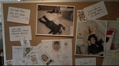 This was his board diagramming the Tara Knowles murder investigation!