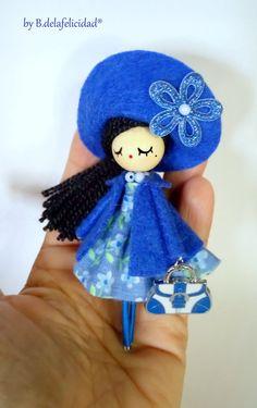 doll brooch jewelry OOAK by Delafelicidad on Etsy