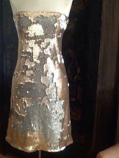 Silver/gold sequin dress Pamela Alexander Design Www.pamelaalexanderdesign.com