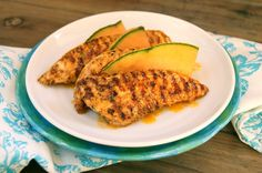 grilled chicken marinated in melon-chipotle juice!