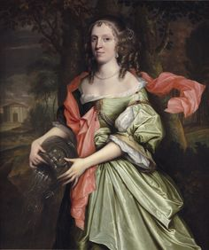 Portrait of a Lady, traditionally called Lady Herries. John Michael Wright (1617-1694).