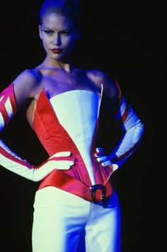 Thierry Mugler 1997 Spring Summer Collection - Paris Fashion Week - January 22, 1997. Model: Valeria Mazza