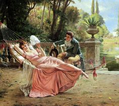 """""""The Proposal"""" by  Charles Joseph Frederick Soulacroix (french painter)"""