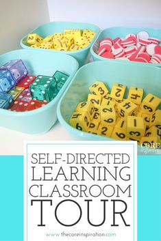 This is a perfect self-directed learning environment. Students can access all their learning supplies independently in this super organized classroom. #CoreInspiration #Classroom #Teacher #SelfDirectedLearning #ClassroomTour
