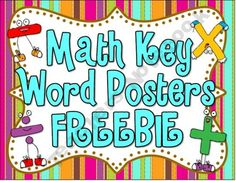 Math Key Words Posters FREEBIE!