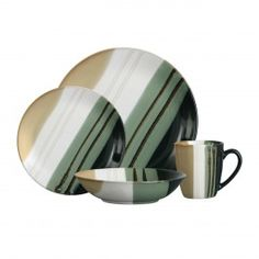 Special Offer 16 Or 32 Piece Monsoon Green Dinner Service Set Plates Bowls Mugs Quick Image, Tesco Direct, Plates And Bowls, Dinner Sets, Plate Sets, Monsoon, Decoration, Dinnerware, Hand Painted