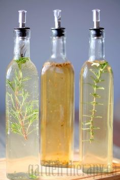 Rosemary, Sage, Tarragon, Basil, Citrus, Fennel and more flavors of Infused vinegar