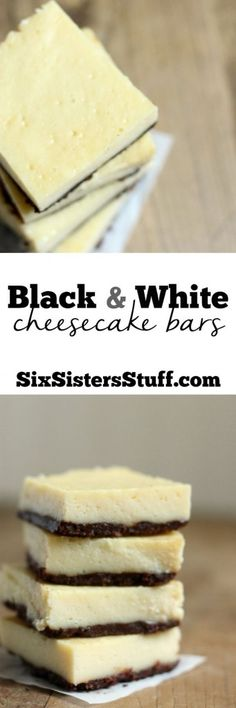 You definitely deserve these Black & White Cheesecake Bars from Six Sisters' Stuff