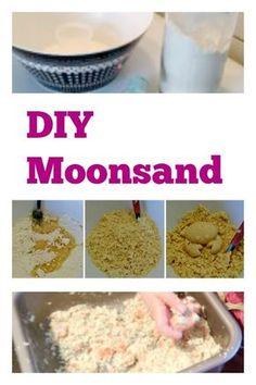 Met deze diy kan je eenvoudig aan de slag om kinetisch zand / magisch zand zelf te maken. Met eenvoudige huis, tuin en keuken ingrediënten.