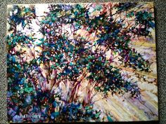 "16x20 acrylic ""break thru"" original artwork by Sandra Schmocker"