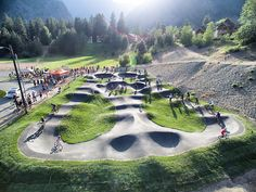 First laps on the new Velosolutions pumptrack in Leavenworth
