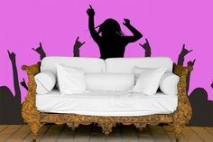 Design your own Wallpaper and easy DIY Wall Murals from www.customizedwalls.com. Don't like the one in picture, but sounds like a great site!