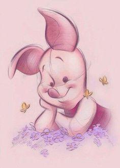 Winnie the pooh Disney Love, Disney Art, Disney Pixar, Disney Characters, Winnie The Pooh Quotes, Winnie The Pooh Friends, Piglet Quotes, Winnie The Pooh Drawing, Piglet Winnie The Pooh