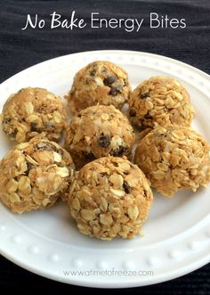 These no bake energy bites are amazing and the perfect solution to mid meal snacking!