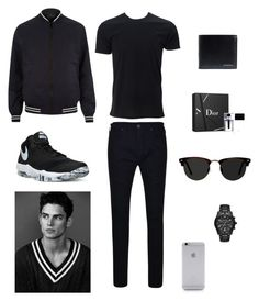 """Cool Men"" by karinasyafni ❤ liked on Polyvore featuring River Island, True Religion, Christian Dior, Ace, NIKE, Burberry, Native Union, Michael Kors, men's fashion and menswear"