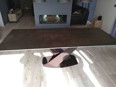 Extendable version of Victoria table in Steel Dark ceramic and Moka matt frame. Available in other sizes and configurations. Delivered to our client in Peterborough. Contemporary Furniture, Contemporary Design, Leather Bed, Peterborough, Moka, Sofa Design, Modern Bedroom, Sideboard, Dining Table