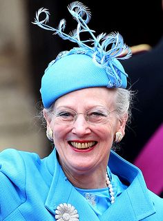 Queen Margrethe II of Denmark at the wedding of Prince Williams and Catherine Middleton