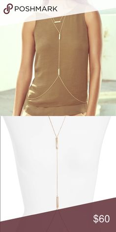 Kendra Scott James body chain in gold Worn once beautiful Kendra Scott body chain Kendra Scott Jewelry Necklaces