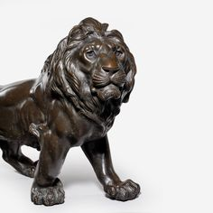 A Meiji bronze lion