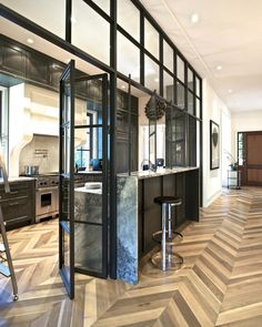 Transitional Kitchen Features Steel-and-Glass Wall   Fresh Faces of Design   HGTV