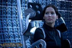Awaiting a Game like no other... Katniss Everdeen (Jennifer Lawrence) in The Hunger Games: #CatchingFire.  (Photo credit: Murray Close)