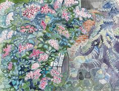 Cat and Greenhouse |   watercolour, 1986 | Edward Bawden