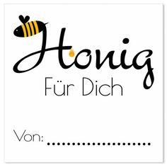 Kostenlose Vorlage quadratisches Etikett Honig Selbstgemacht