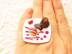 mini-food jewelry (yep, this one IS a chocolate lava cake!) -- more on the site!