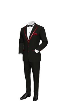 Our stylish trendsetting Tuxedosets a new look in stone. Now you can rule your concrete jungle and look like the boss you are. Made to measure, made to fit your frame, made to portray the swagger in your being.  Jacket    Jacket Lapels:Peak  Lapel Width:Wide  Number of Buttons:2 buttons  Breast Pocket:Yes  Hip Pockets:2 pockets  Pocket Type:double welt  Sleeve Buttons:3 buttons  Buttonholes:Real (Functional Buttons)  Vents:Side Vents    Pants    Pleats:No Pleats  Backpocket:No back pocket…