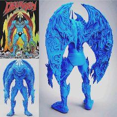 "SpankyStokes.com | Vinyl Toys, Art, Culture, & Everything Inbetween: REVEALED: Mike Sutfin × Unbox Industries's ""Devilman"" Figure!"