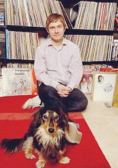 Photo of Martin Freeman & his  Dog