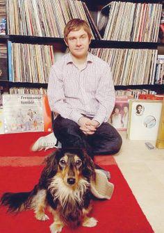 Photo of Martin Freeman & his  Dog