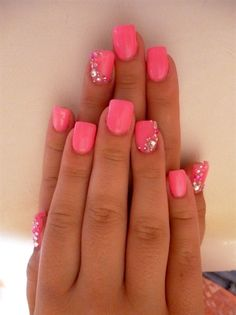 Pink with a touch of sparkle