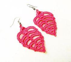 PDF Tutorial Crochet Pattern..Dangle Earrings, Lace Jewelry on Etsy, $3.25
