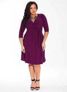 Plus Size Dress in Magenta