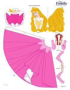 Princesas Disney 3 D Moldes Paper Craft 3d Paper Crafts, Paper Toys, Diy Paper, Princess Crafts, Disney Princess Party, Cinderella Party, Disney Diy, Disney Crafts, Papier Kind