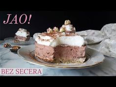 DIJETALNI CHEESECAKE BEZ SECERA I UGLJENIH HIDRATA LCHF ISHRANA - YouTube Keto Recipes, Healthy Recipes, Healthy Food, Lchf, Tiramisu, Cheesecake, Deserts, Food And Drink, Vegans