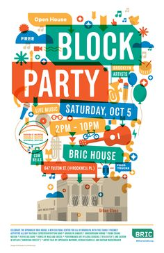 Helped my friends at BRIC arts with a poster for their open house block party.