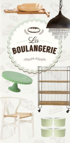 La Boulangerie: Admire the lovely design of this quaint French shop, and consider recreating it in your own home today. Shop Now at dotandbo.com!