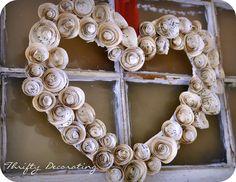 Sheet music Valentine's wreath