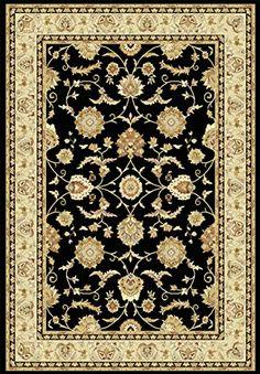 Teppich Wohnzimmer Orient Carpet klassisches Design VISCOUNT CLASSIC RUG 100% HEATSET POLYPROPYLENE 200x290 cm Rechteckig Schwarz | Teppiche günstig online kaufen  https://www.amazon.de/dp/B017RBHU0M
