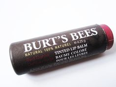 Burts Bees Tinted Lip Balm in Red Dahlia  #natural #beauty #makeup