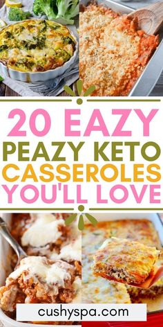 20 Easy Keto Casserole Recipes for Comforting Evenings Enjoy some comfort food without the guilt, these ketogenic casserole meals are so delicious and easy to make. These low carb recipes are perfect for cool days and savory keto comfort food. Bariatric Recipes, Ketogenic Recipes, Diet Recipes, Cooking Recipes, Healthy Recipes, Protein Recipes, Ketogenic Casserole, Keto Casserole, Casserole Recipes